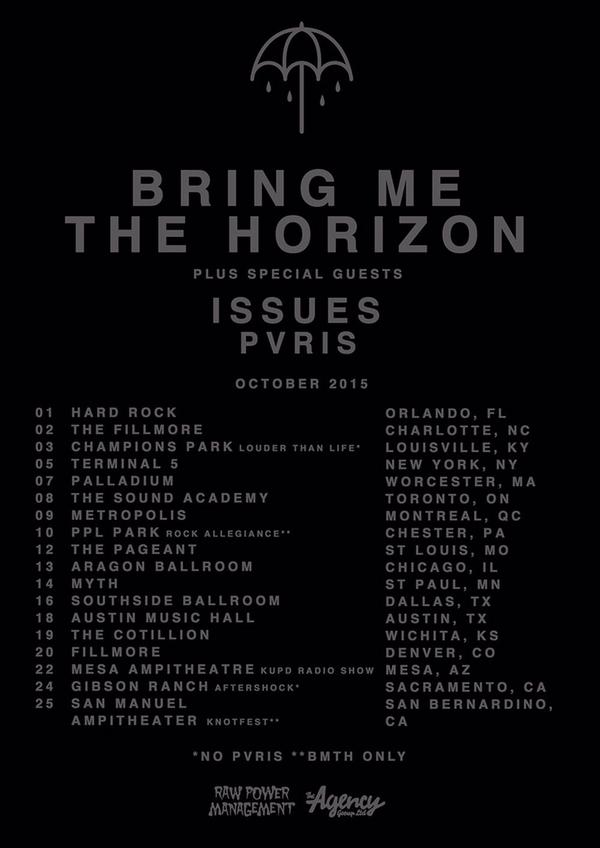 Bring Me The Horizon Tour 2020.Bring Me The Horizon Announce Us Tour With Issues And Pvris