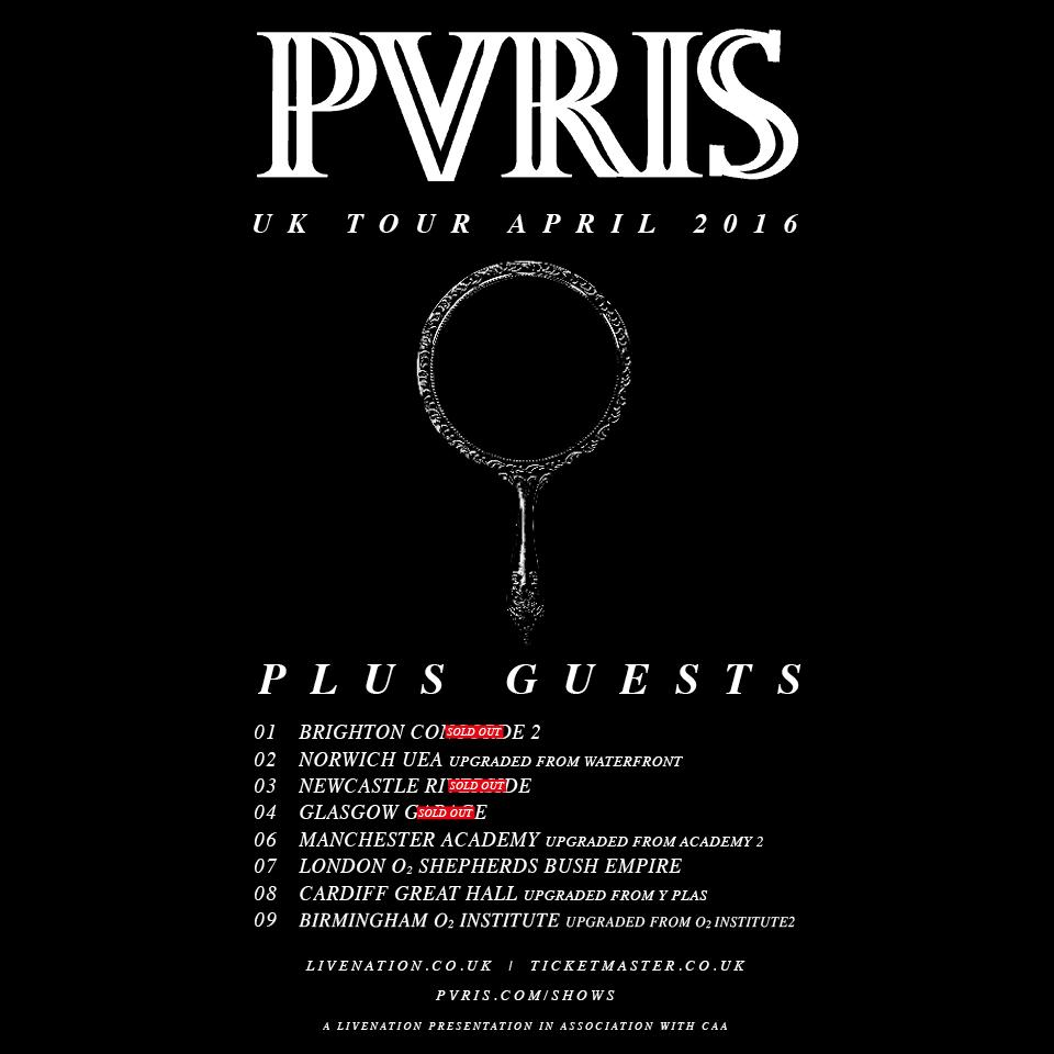 pvris tour 2016