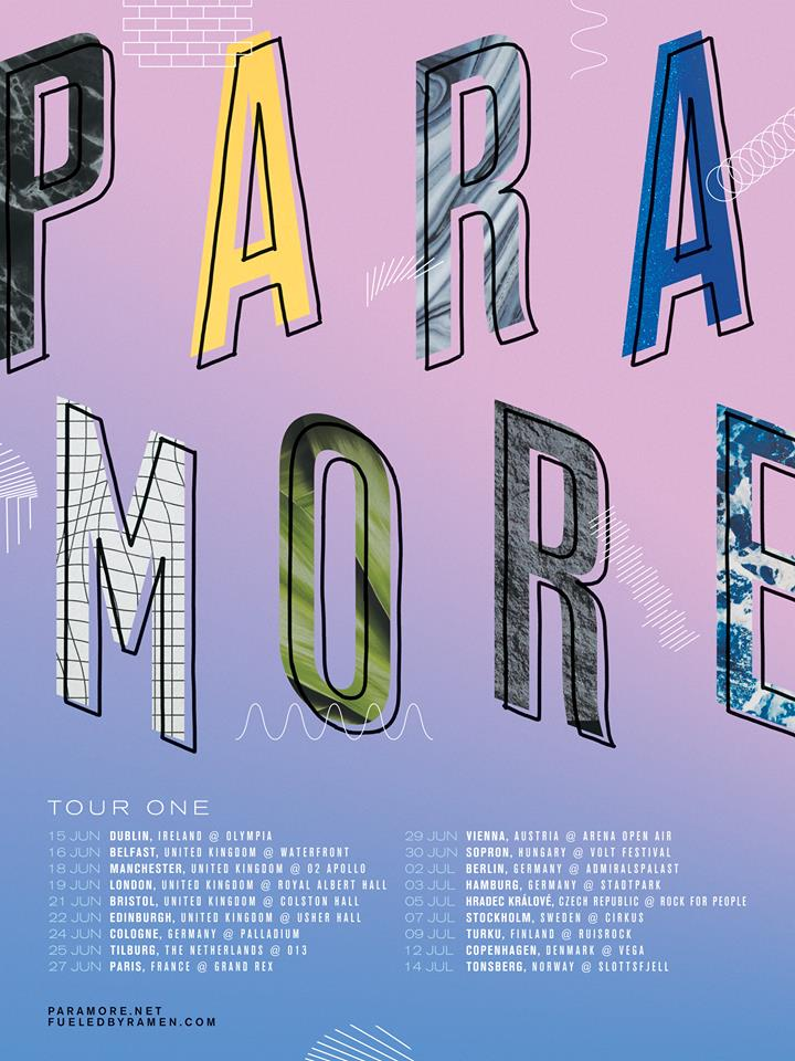 paramore self titled tour poster - photo #24
