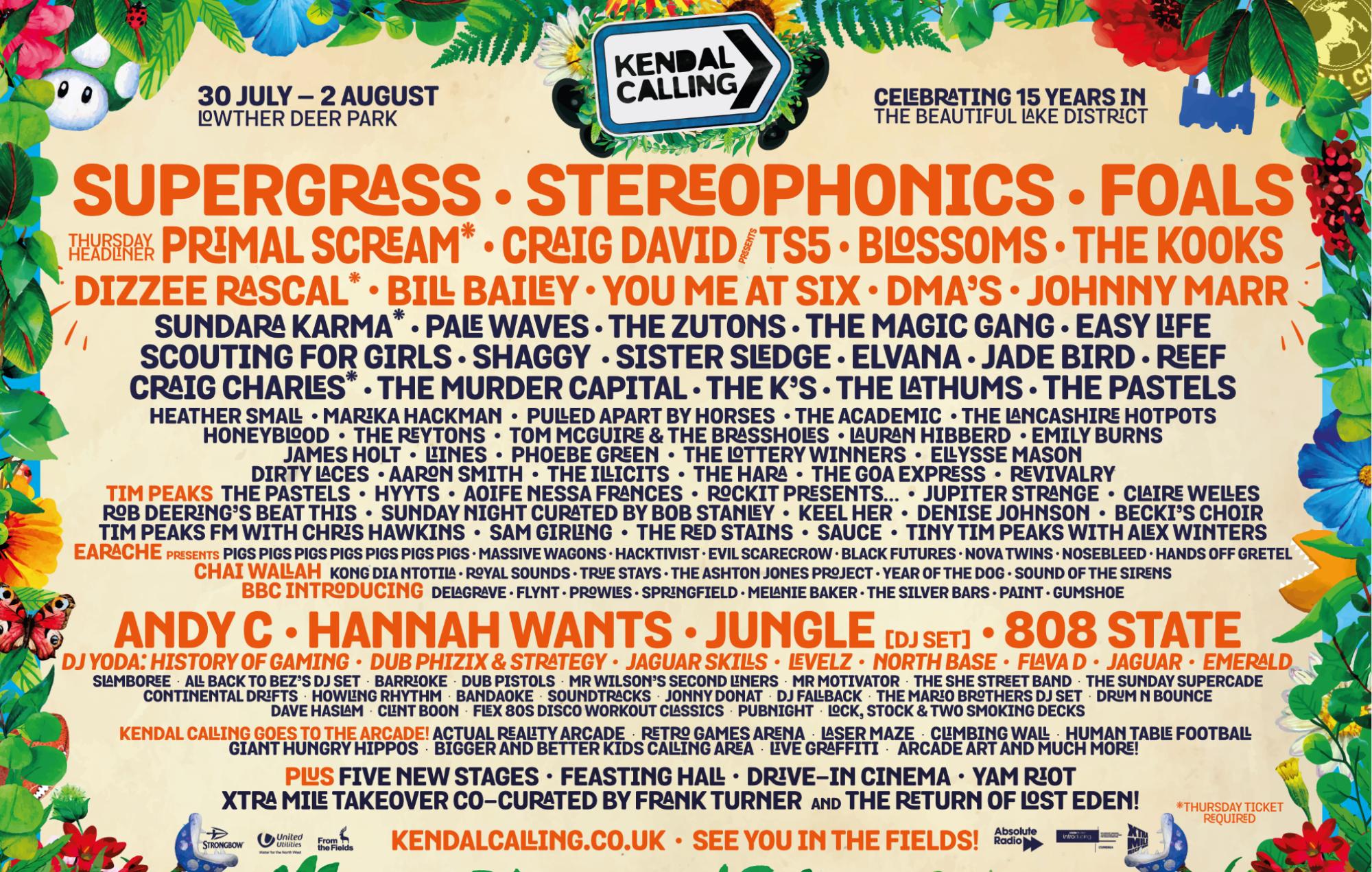 Stereophonics-Kelly Jones Kendal Calling Festival UK 2017 POSTER 3